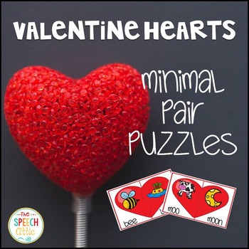 Valentine Hearts Minimal Pair Puzzles
