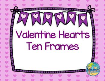 Valentine Hearts Ten Frames