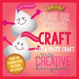 Valentine Hugs or Kisses Craft