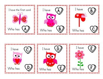 Valentine I have, Who has ABC cards