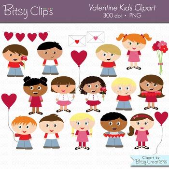 Valentine Kids Clipart Commercial Use Clip Art