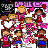Valentine Kids {Creative Clips Digital Clipart}