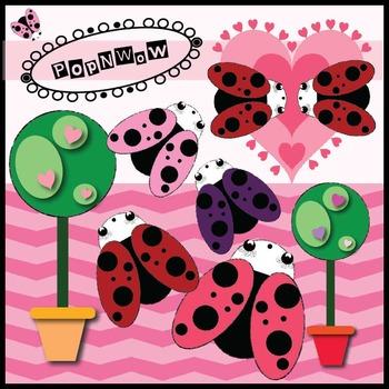 Valentine Ladybug PopNwow Digital Clips