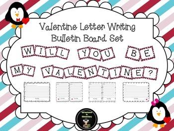Valentine Letter Writing Bulletin Board Set