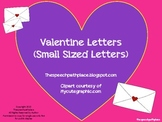 Valentine Letters with Vocabulary Items (Small Size Letters)