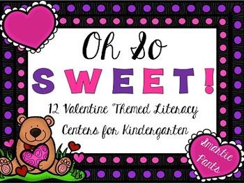 Valentine Literacy Centers for Kindergarten
