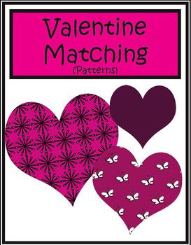 Valentine Matching (Patterns) | Math Center Game