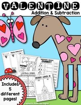 Valentine Math {Addition and Subtraction} for First Grade