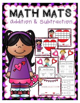Valentine Math Mats ~ Addition & Subtraction