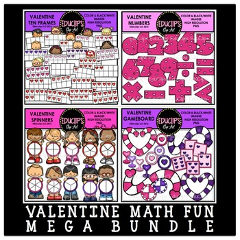 Valentine Math Mega Bundle {Educlips Clipart}