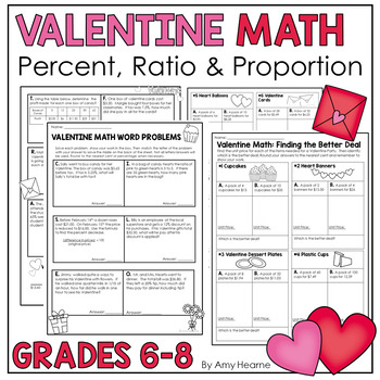 Valentine Math: Percent, Proportion and Ratio Word Problems