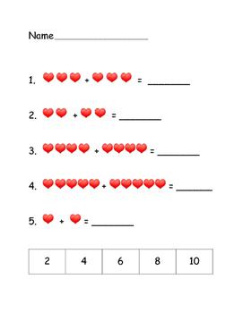 Valentine Math Review