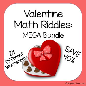 Valentine Math Riddles MEGA Bundle (Save 52%)
