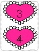 Valentine Math- measuring with hearts and telling time gam