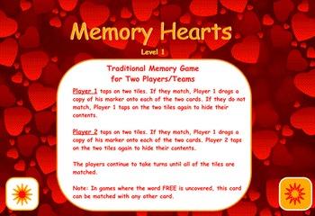 Valentine Memory Hearts Flipchart