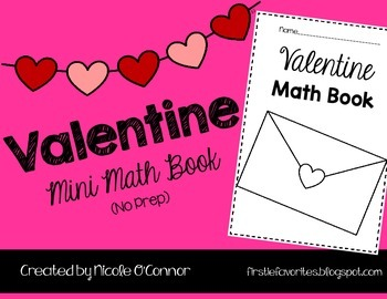 Valentine Mini Math Book (No Prep)