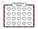 Valentine Missing Number Hearts