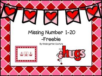 Valentine Missing Number Slide Show
