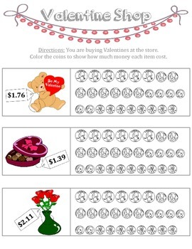 Valentine Money Worksheet