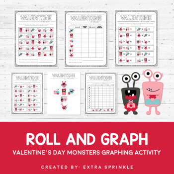 Valentine Monsters Roll and Graph Activity