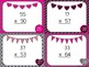 Valentine Multiplication: 2 and 3 Digits by 2 Digit Task Cards