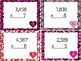Valentine Multiplication Bundle: 2, 3, and 4 Digits by 1 a