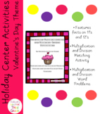 Valentine Multiplication and Division Center Activities