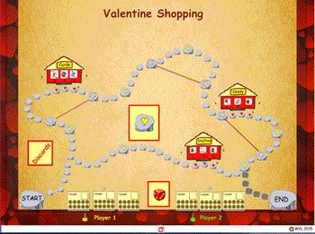 Valentine Nickel Shopping - US Coins - ActivInspire/PDF