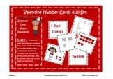 Valentine Number Cards 1-31, Place Value, Ten Frames, Numb