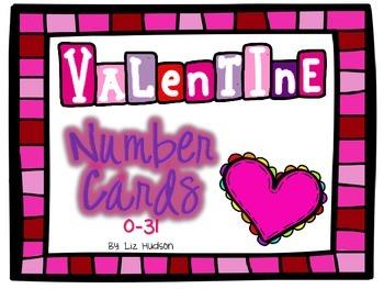 Valentine Number Cards