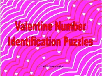 Valentine Number Identification Puzzles