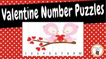 Number Puzzles: Valentine Number Puzzles