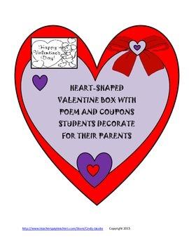 Valentine Parent Gift, Valentine Coupons, Valentine Card,