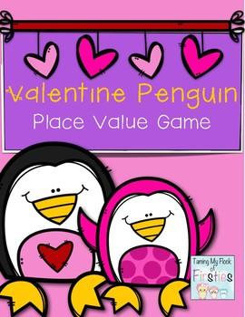 Valentine Penguin ~~~ Place Value Game