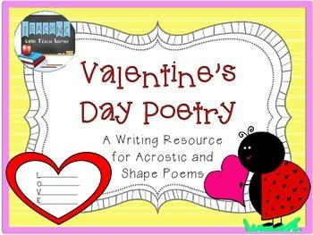 Valentine Poetry Freebie! (Shape & Acrostic Poems)