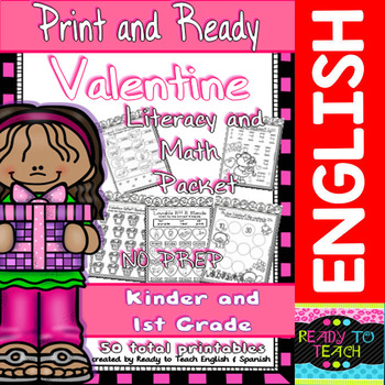 Valentine - Print and Ready - Literacy and Maths Packet/ K
