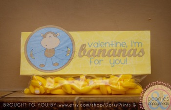 Valentine Printables - Bananas About You Baggy Topper
