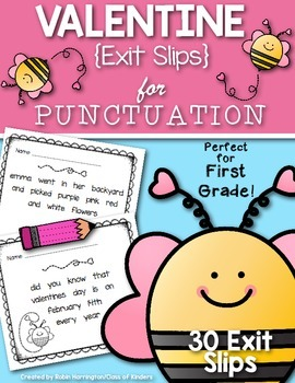 Valentine {Punctuation Exit Slips} for First Grade and Kin