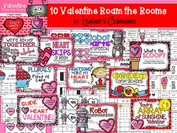 Valentine Roam the Rooms Unit from Teacher's Clubhouse