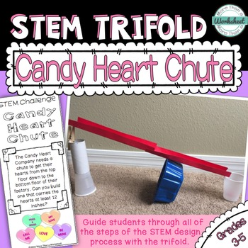 Valentine STEM Trifold: Candy Heart Chute