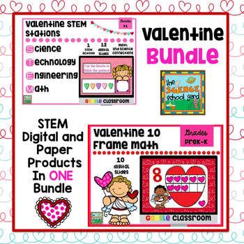 Valentine STEM and GOOGLE Math Pack