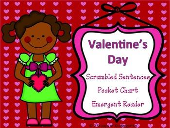 Valentine Scrambled Sentences, Sight Word Book and Pocket