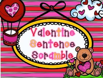 Valentine Sentence Scramble
