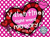 Valentine Sight Word Memory