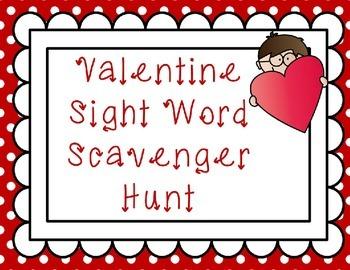 Valentine Sight Word Scavenger Hunt