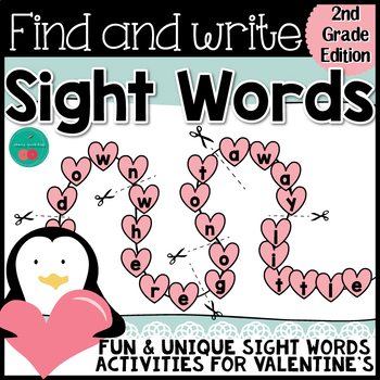 Valentine's Day Sight Words {SECOND GRADE} {Print & Go} or