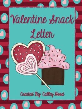 Valentine Snack Letter