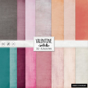 Valentine Solid Digital Papers - Lightly Textured Backgrou