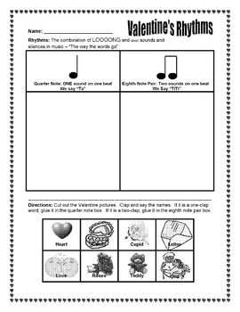 Valentine Song Activity - ta and titi