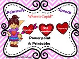 Valentine's Day Speech Therapy Powerpoint and Printables M